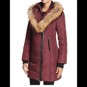 NWT Mackage Kay Burgundy Down Coat
